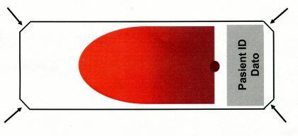 Slepne objektglass med avkuttede hjørner